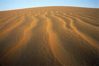 Empty Quarter Photograph - Ripples In Sand by Adam Gault