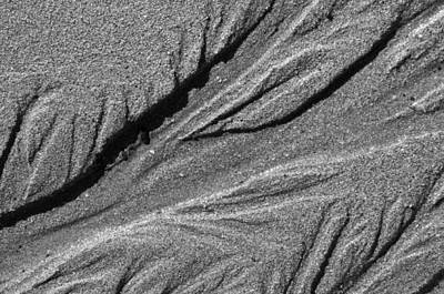 Photograph - Ripples In The Sand Black And White by Glenn Gordon