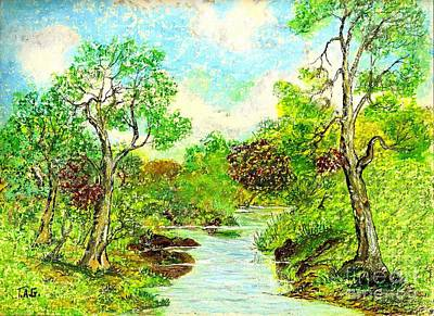 Painting - Rippling Brook by Jessi and James Gault