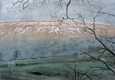 Snow Hills Painting - Rise Hill In December by John Cooke