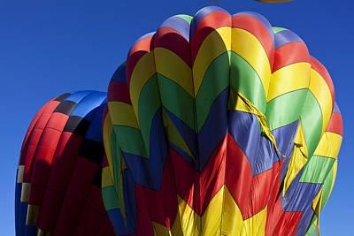 Photograph - Rising Hot Air Balloons by Garry Gay