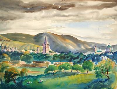 Hill Top Village Painting - Rising Storm In Mexico by Bill Joseph  Markowski