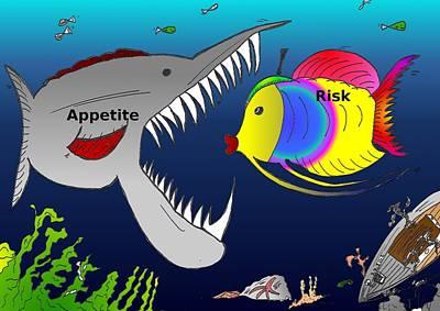 Financial Mixed Media - Risk V. Appetite Cartoon by OptionsClick BlogArt