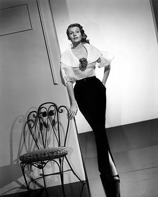 1950s Fashion Photograph - Rita Hayworth, Columbia Pictures, 1956 by Everett