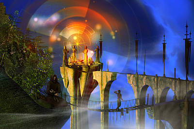Print featuring the digital art Rite Of Passage by Shadowlea Is