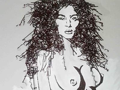 Volto Digital Art - Ritratto by Michelle Consalvo