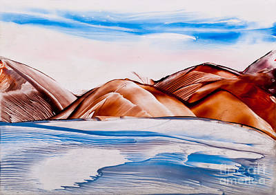 Encaustic Painting - River And Rock In Wax by Simon Bratt Photography LRPS