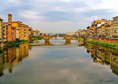 Photograph - River Arno by CR  Courson