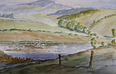 Painting - River Birds  by Rob Hemphill