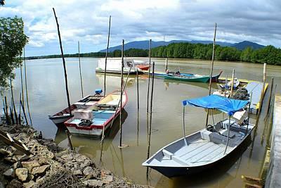 Photograph - River Boats by Ku Azhar Ku Saud