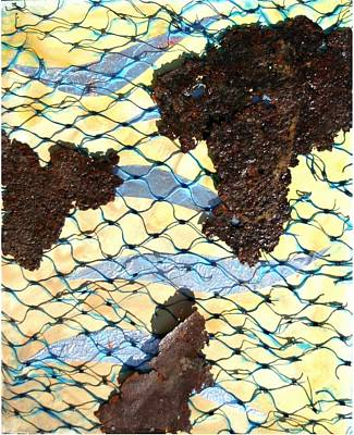Collectible Mixed Media - River By Twelve Panel 8 by Dodd Holsapple