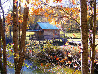 Photograph - River Cabin In The Fall by Duane McCullough