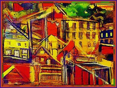 Cincinnati Ohio Painting - River City by Mindy Newman