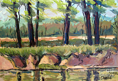 File Painting - River Eel Field by Charlie Spear