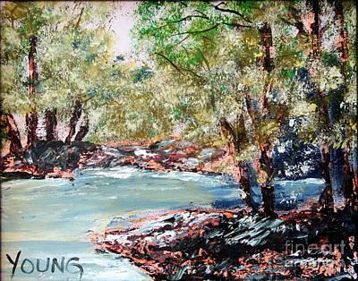 Autuumn Painting - River by Ellen Young