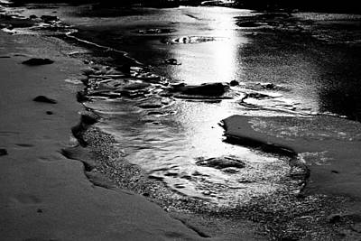 Photograph - River Ice by Larry Ricker