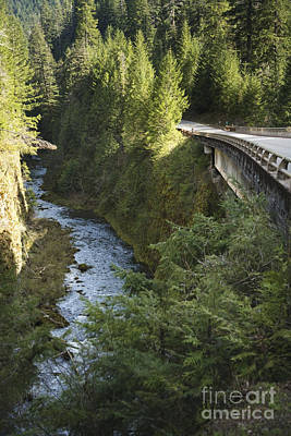 River In Gorge Next To Highway Art Print by Ned Frisk