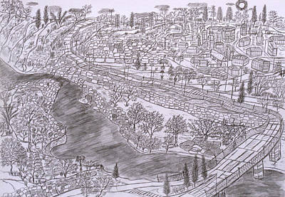 River Jordan Drawing - River Jordan by Yuriy Mkhitaryants