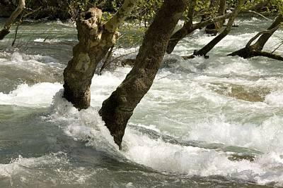 River Manavgat In Flood Art Print by Bob Gibbons
