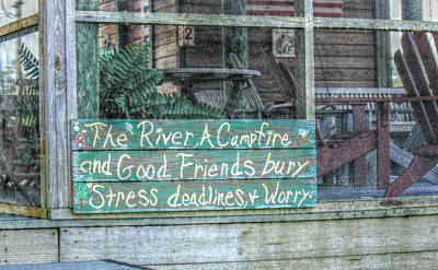 River Mantra Art Print