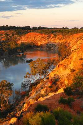 River Murray At Sunset Art Print by Patricia Tapping