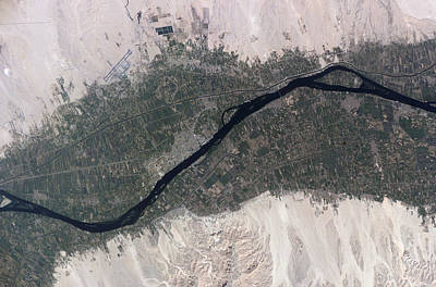 Using The River Photograph - River Nile, Luxor, Egypt by Nasa