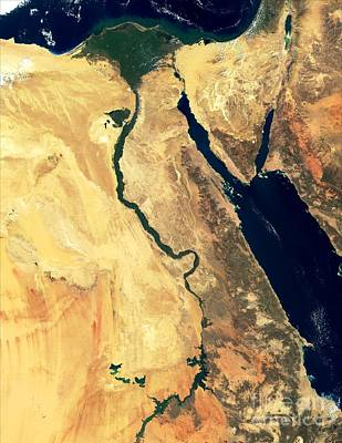 True Color Photograph - River Nile by NASA / Science Source