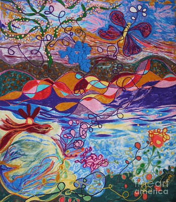 River Of Life Art Print by Heather Hennick