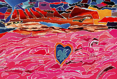 Veteran Day Mixed Media - River Of Passion by Kenneth James
