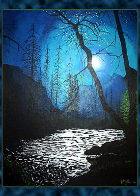 Painting - River Of Radiance by James Mulvania
