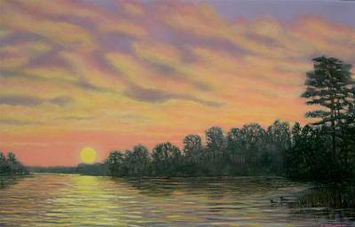 Art Print featuring the painting River Reflections by Kathleen McDermott