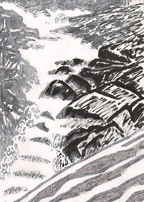 River Road Spring Roar Monterey Ma Original by Al Goldfarb