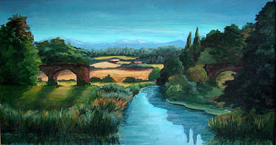 Newton Painting - River Stour At Sturminster Newton Dorset England by Ethel Vrana