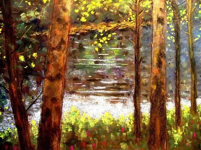 River Trees Art Print by John  Nolan