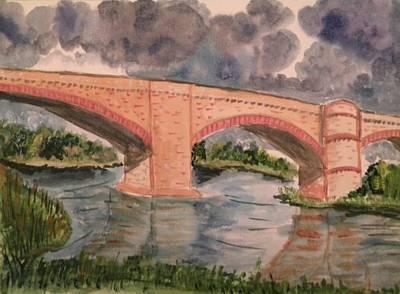 Pictori Romani Contemporani Painting - River Tweed by Carmen Kolcsar