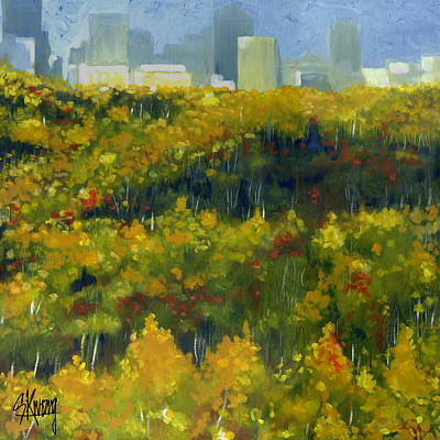 River Valley Yeg Art Print