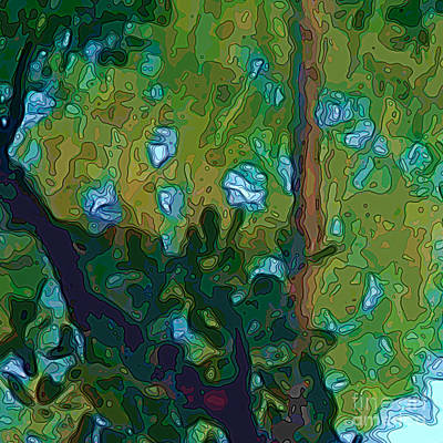 Digital Art - Riverbank Reflections 2 Cameo Two by Herb Paynter