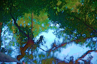Riverbank Reflections2 Art Print