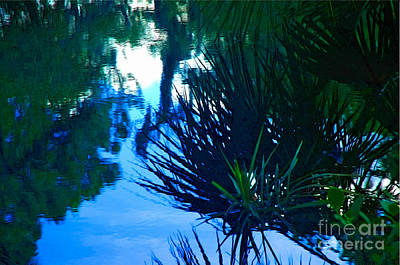 Riverbank Reflections3 Art Print