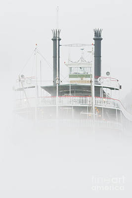 Riverboat In The Fog Art Print by Jeremy Woodhouse