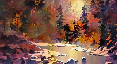 Riverglow Art Print