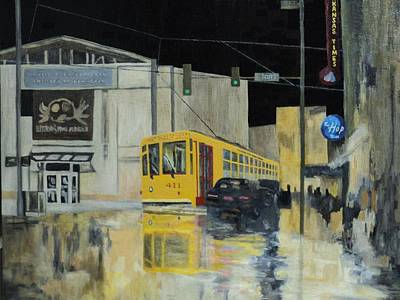 Painting - Rivermarket Streetcar 411 by Angelo Thomas