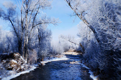 Duchesne Photograph - Rivers Frost by La Rae  Roberts