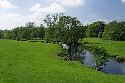Peak District Photograph - Riverside Meadows - Ashford-in-the-water by Rod Johnson