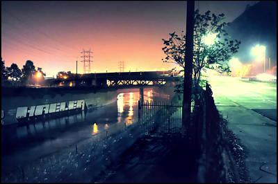 Photograph - Riverside Windy Night by Kevin  Break
