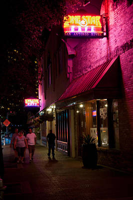 Photograph - Riverwalk Restaurant In San-antonio by Johnny Sandaire