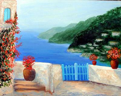 Art Print featuring the painting Riviera by Larry Cirigliano