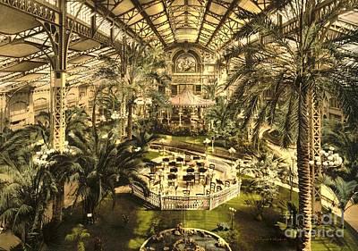 Riviera Winter Garden In Nice Art Print