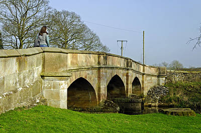 Road Bridge Across The River Manifold - Ilam Art Print