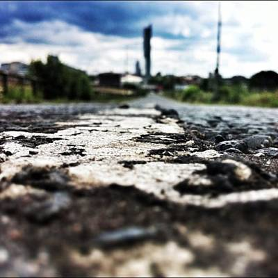 Texture Wall Art - Photograph - #road #closeup #tarmac #street by Ritchie Garrod